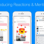 Facebook Messenger intros message reactions and '@' mention notifications in group chats