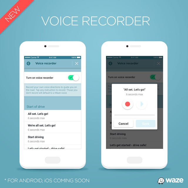 Use your own voice to guide you home, with Waze's recording feature