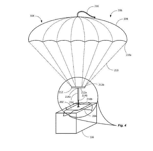 Online giant granted patent for parachute-dropping drone