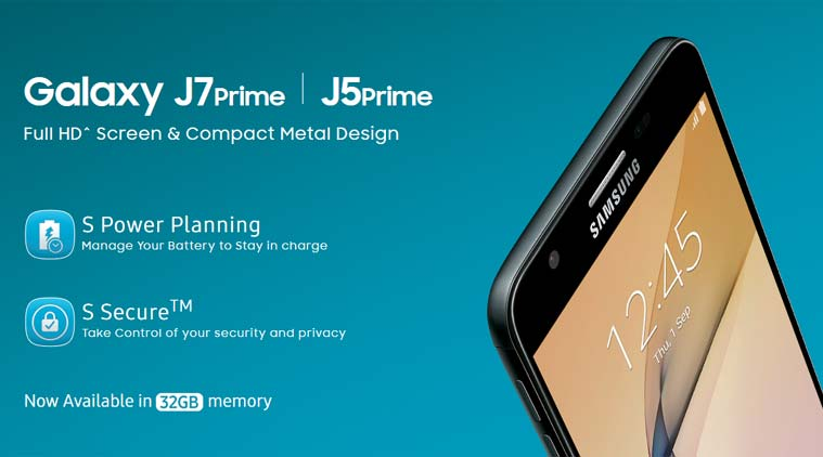 Samsung Galaxy J7, J5 Prime in 32GB storage now available in India