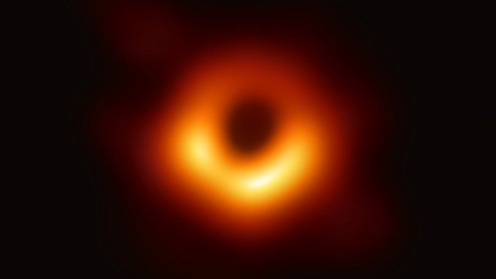 We finally have the first ever photograph of a black hole ...