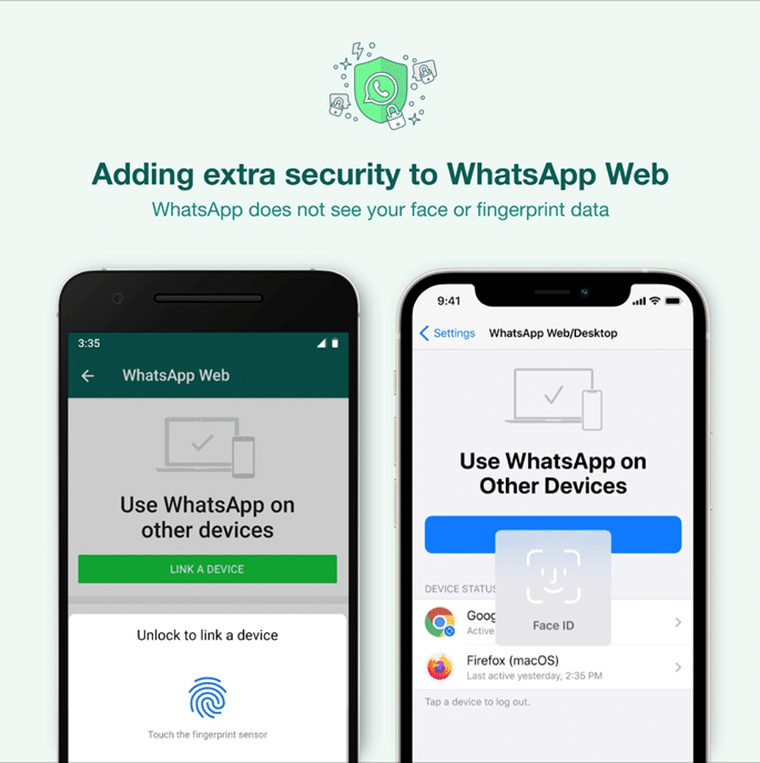 WhatsApp Adds Biometric Security Layer for Web, Desktop App Linking